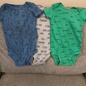 Carter's cotton onesies, set of 3